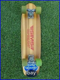 Vintage SIMS SUPERLIGHT skateboard 1978-79 complete Gullwings Snakes