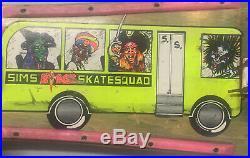 Vintage SIMS Skateboard Kevin STAAB Skate Squad School Bus RARE 1990