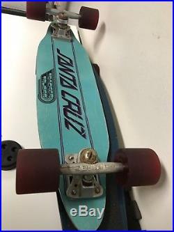 Vintage Santa Cruz Slalom Skateboard- Sims Kryptonics Powell Dogtown