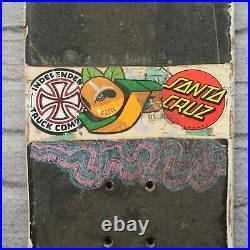 Vintage Santa Cruz Slasher Keith Meek Skateboard Deck Skate 80s