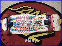 Vintage Santa Cruz Special Edition Mechanical Fish Complete Skateboard