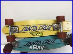 Vintage Santa Cruz fiberglass kick skateboard sims kryptonics dogtown powell