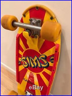 Vintage Sims Kamikaze Skateboard 1983