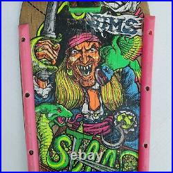 Vintage Sims Kevin Staab Pirate Complete 30 Skateboard with Independent Trucks
