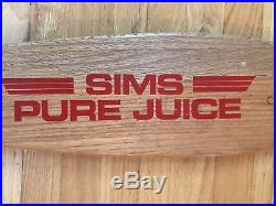 Vintage Sims Pure Juice skateboard deck