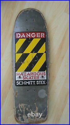 Vintage Skateboard 1980's 1987 Schmitt Stix Team Vision Sims Zorlac G&S T&C