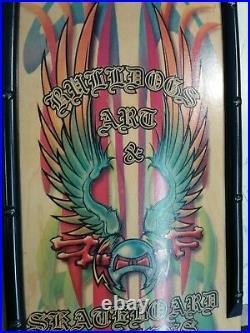 Vintage Skateboard Bulldog Skates Feathered Murf, Dogtown Sims Alva