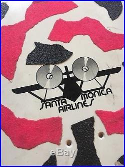Vintage Skateboard Deck SMA NATAS Santa Cruz Monica airlines original rare 1980s