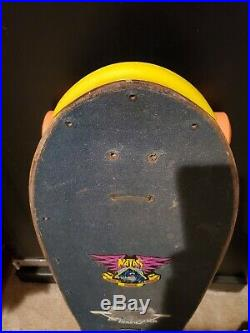 Vintage Skateboard Natas Santa Cruz Bullet Thunder NOT a Reissue