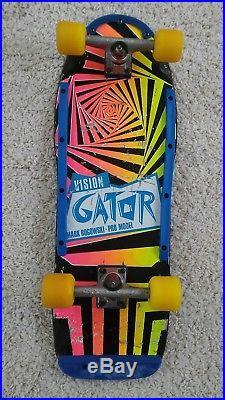 Vintage Skateboard Vision Gator Mark Rogowski. Pro model 1985 80's USED