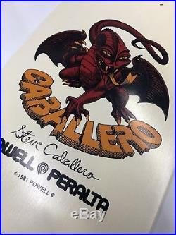 Vintage Steve Caballero Skateboard Powell Peralta Santa Cruz Bones SMA Sims NOS