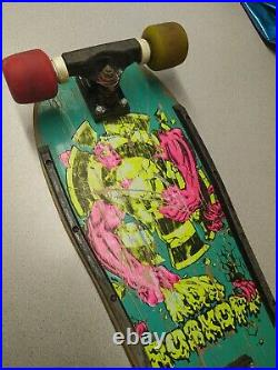 Vintage Very Rare OG 80s Santa Cruz Rob Roskopp Target 3 III Skateboard Complete