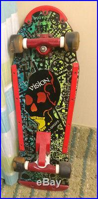 Vintage Vision John Grigley Old Skull Skateboard Original not a re-issue