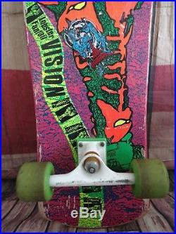 Vintage Vision Lobster Fantail Skateboard John A. Grigley 29.5 x 10 inch 1980's