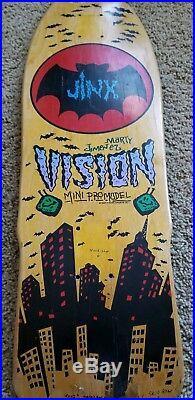 Vintage Vision Marty Jiminez Jinx Skateboard deck 80s OG not a reissue