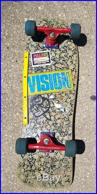 Vintage Vision Skateboards Punk Skulls 80s Skateboard