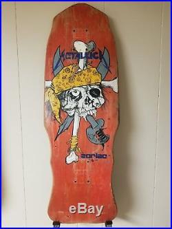 Vintage ZORLAC Metallica Pirate Skull Skateboard Deck PUSHEAD 1986 ORIGINAL