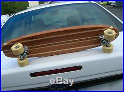 Vintage hobie super surfer multi wooden sidewalk skateboard surfboard decal box