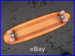 Vintage hobie super surfer skateboard sidewalk surfboard 1960s 5 stringer deluxe