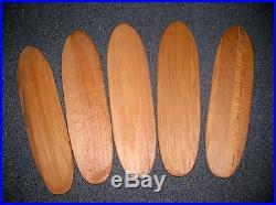 Vintage hobie super surfer wooden sidewalk skateboard surfboard decks 1960s NOS