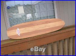 Vintage hobie super surfer wooden skateboard sidewalk surfboard 1960s multi lam
