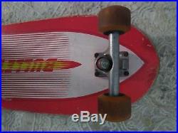 Vintage santa cruz bullet team skateboard
