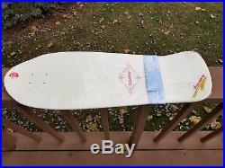 Vintage skateboard NOS Designarium Natas Kaupas Bulldog art signed + # 327/500