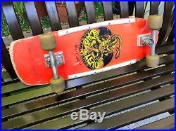 Vintage skateboard OG 1980 Caballero Dragon on Bearing Powell Peralta Bones