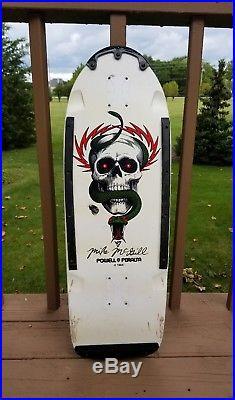 Vintage skateboard Powell Peralta Mike McGill Skull and Snake blem 1980's