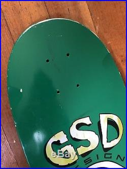Vintage skateboard deck GSD Tracker Original 1980s NOS Green
