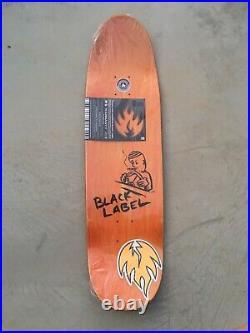 Vintage skateboard neil blender art black label salman agah nos skate deck