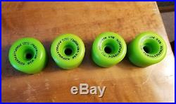 Vintage skateboard wheels NOS Powell Peralta Rat Bones 85A Neon Green OG 80's