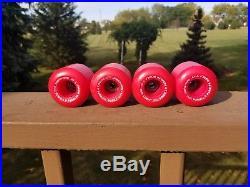 Vintage skateboard wheels NOS Powell Peralta V-IV Mini Cubic Hot Pink! OG 80'S