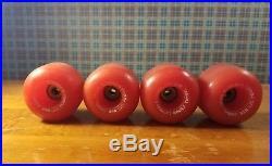 Vintage skateboard wheels Powell Peralta Bones Threes 85A Red Nice! 1980's
