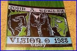 Vision 1988 Vintage John A. Griglby MINI 2 Skateboard GREEN Rare Pro Model Deck