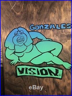 Vision Mark Gonzales Deck Nos Original Rare Fat Lady Signed 80s Skateboard