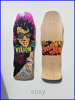 Vision Psycho Stick Old School Reissue Skateboard Deck Natural Stain New US Made