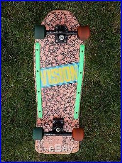 Vision Sports 1986 Vision Punk Skulls Complete Skateboard Deck RARE