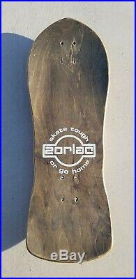 ZORLAC SHRUNKEN MASK SKATEBOARD PUSHEAD nos vintage airbourne sims alva rare g&s
