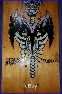 Zorlac Craig Johnson skateboard deckVintage old school pushead