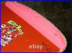 Zorlac Metallica Pushead Vintage SKATEBOARD Complete Kryptonic red & gull wings