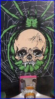 Zorlac Metallica Skateboard Skull Spider withVision Wheels & Independent Trucks
