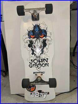 Zorlac skateboard John Gibson Reissue White Trackers Powell Peralta Rat Bones OG